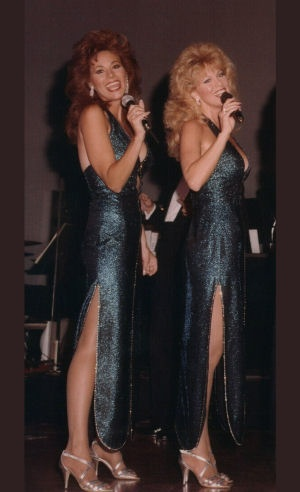 Alberici Sisters on stage at Bally's